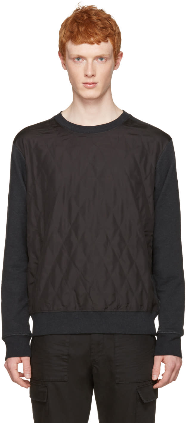 Maison Margiela Grey Quilted Front Pullover