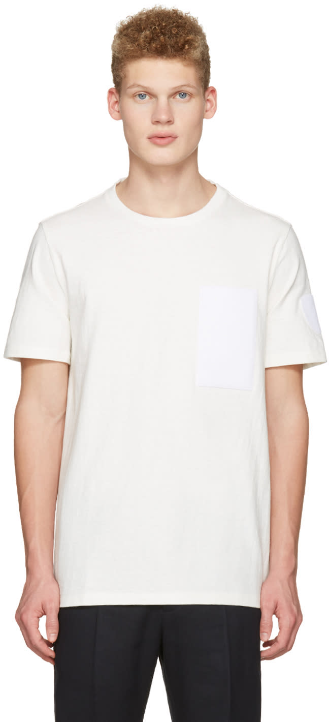 Maison Margiela Off-white Velcro Patch T-shirt