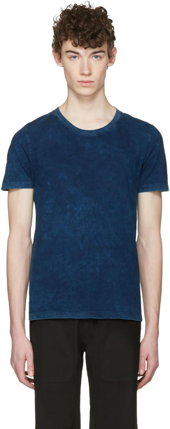 Maison Margiela Three-pack Indigo Jersey T-shirts