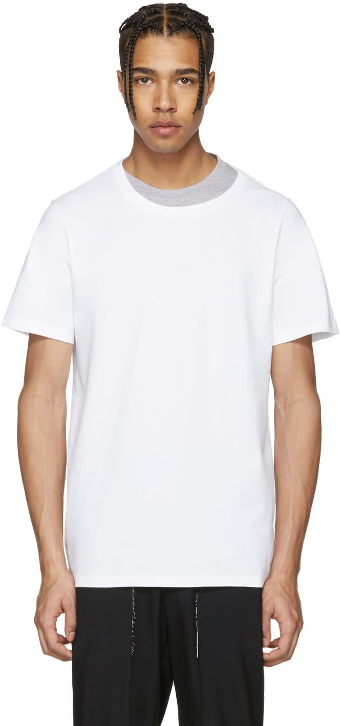 Maison Margiela White Layered Collar T-shirt