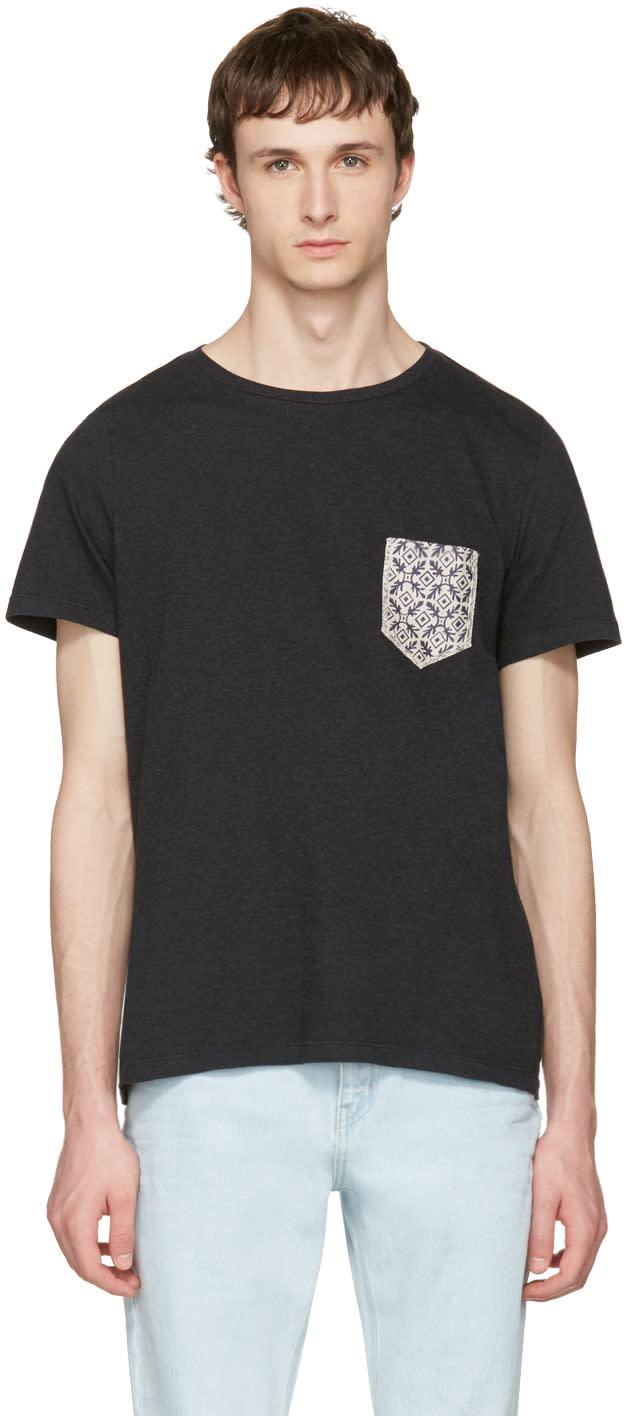 Maison Margiela Black Pocket Patch T-shirt