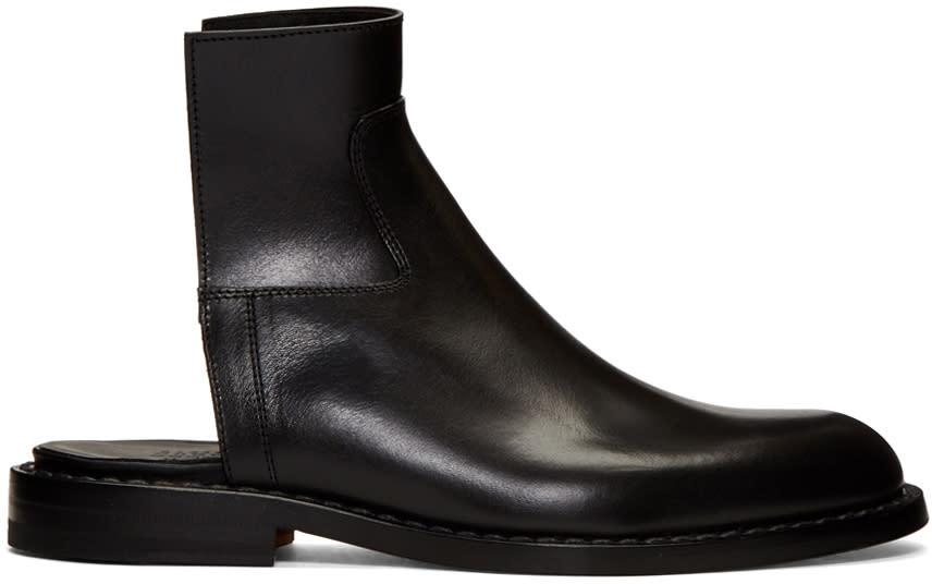 Maison Margiela Black Cut-off Chelsea Boots