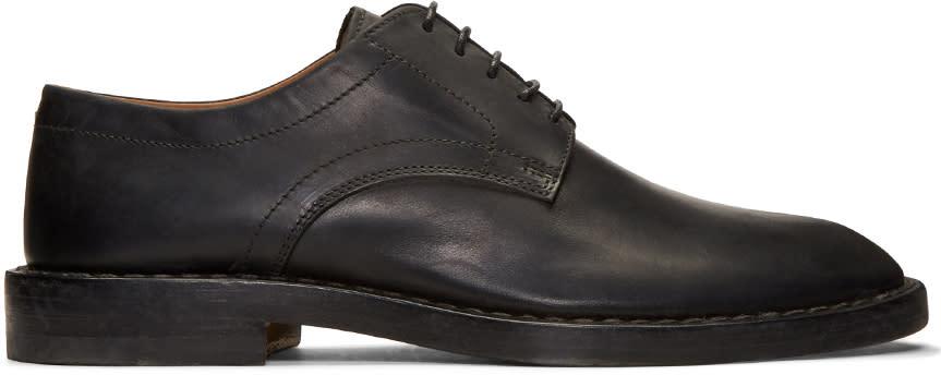Maison Margiela Black Leather Convertible Derbys