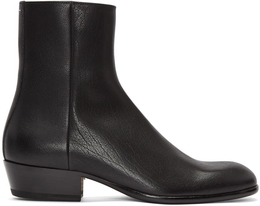 Maison Margiela Black Cuban Heel Boot