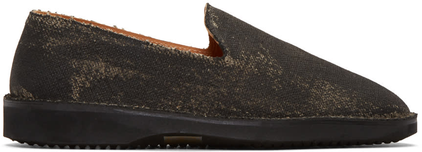 Maison Margiela Black Washed Out Loafers