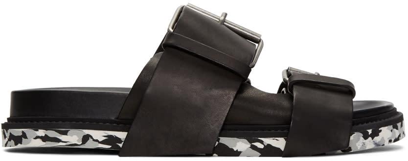Maison Margiela Black Buckles Sandals