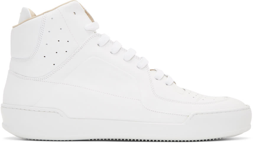 Maison Margiela White Leather High-top Sneakers