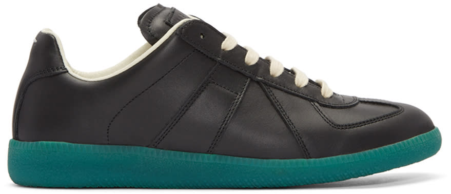 Maison Margiela Black and Green Replica Sneakers