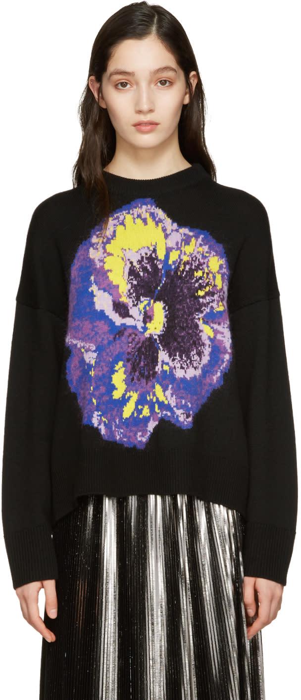 Image of Christopher Kane Black Flower Sweater