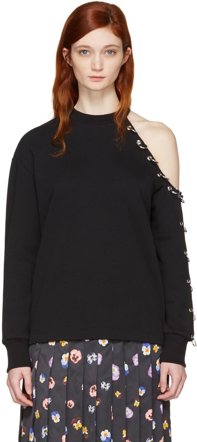 Christopher Kane Black Eyelet and Rings Sweatshirt