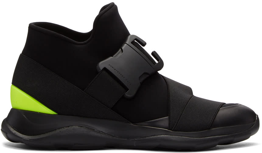 Christopher Kane Black Spoiler High-top Sneakers