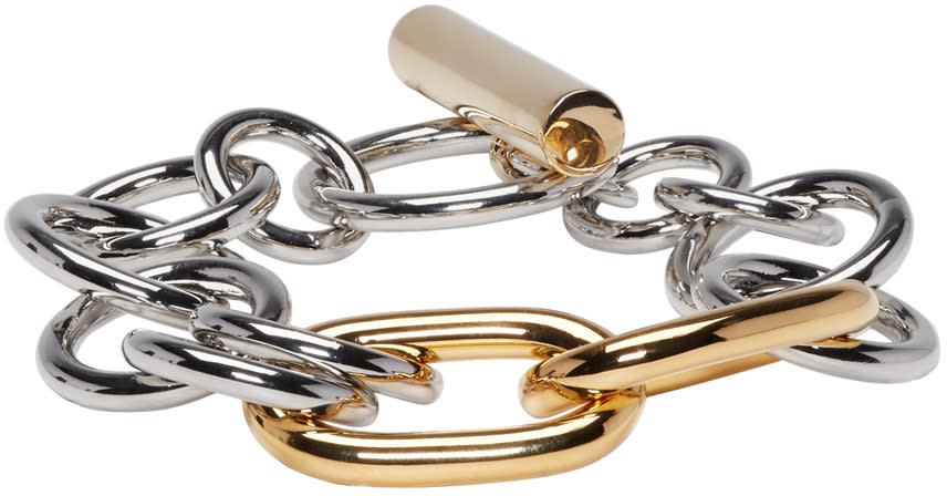 Alexander Wang Gold and Silver Toggle Bracelet