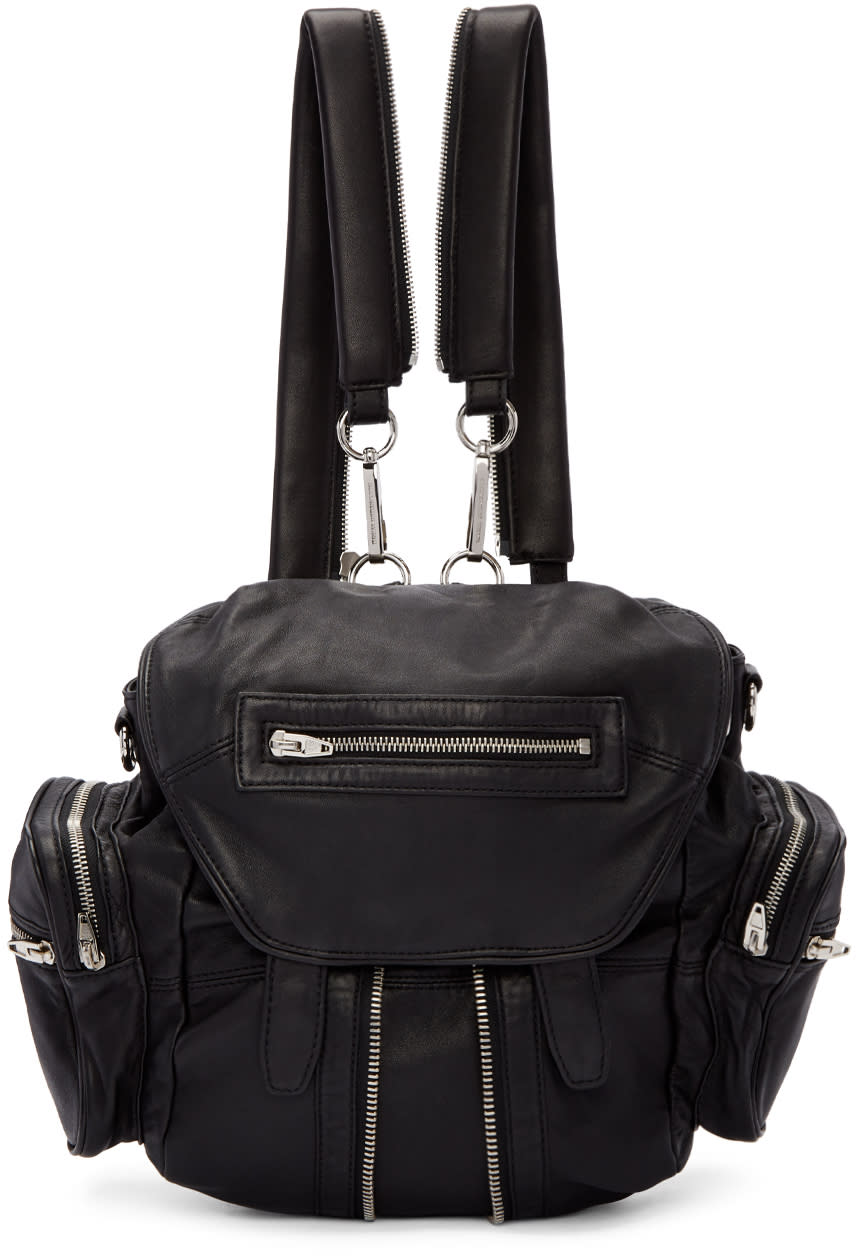 alexander wang female alexander wang black mini marti backpack