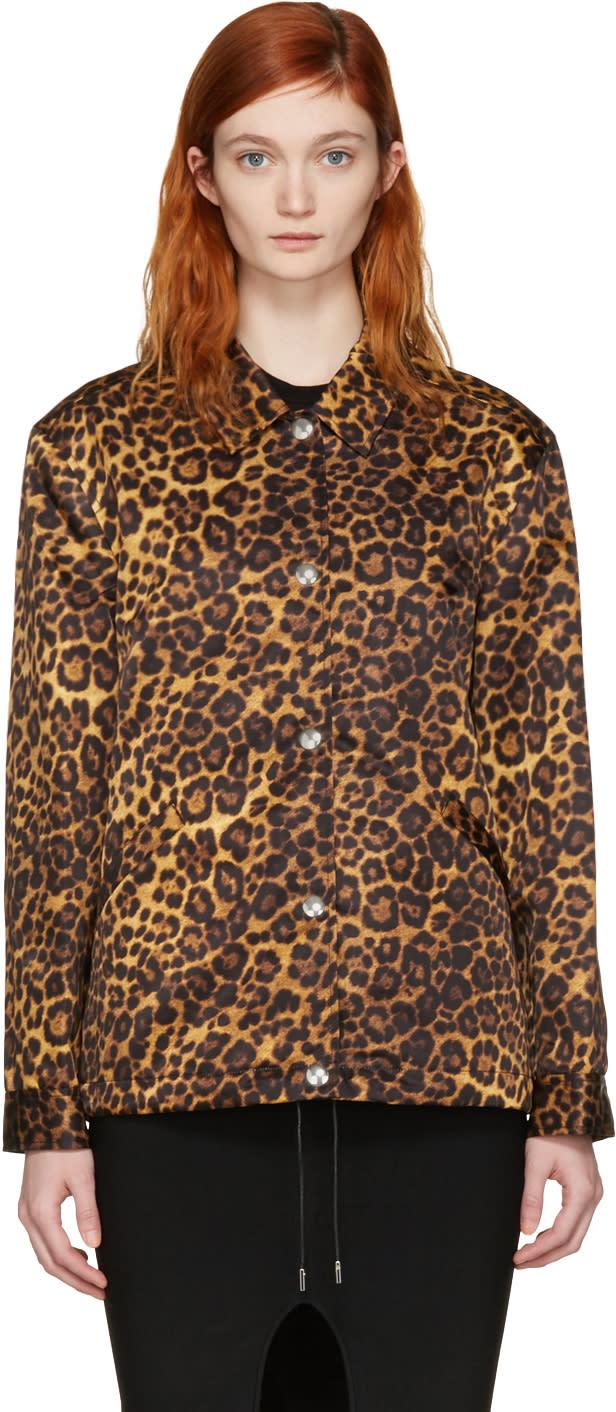 Alexander Wang Tan Leopard Nylon Jacket