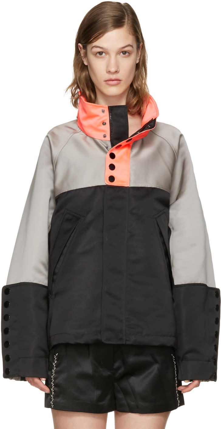Alexander Wang Tricolor Oversized Windbreaker Jacket