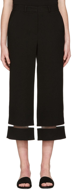 Alexander Wang Black Tailored Fishline Trousers