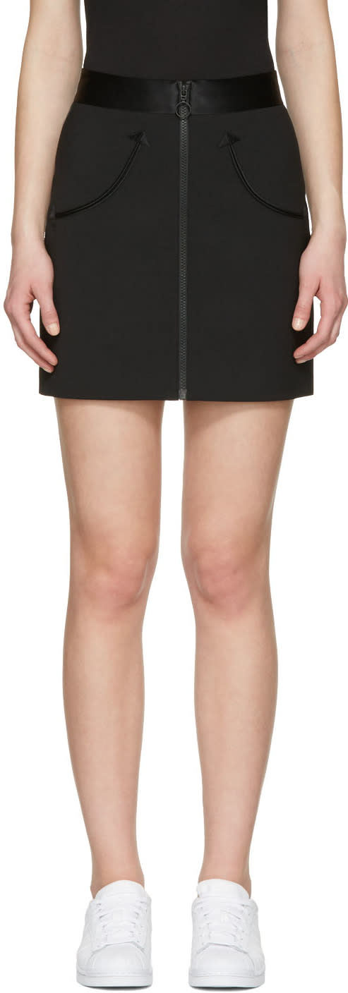 Alexander Wang Black High-waist Zip Miniskirt