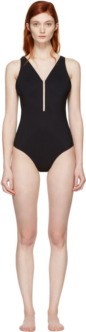 Alexander Wang Black Fishline Swimsuit