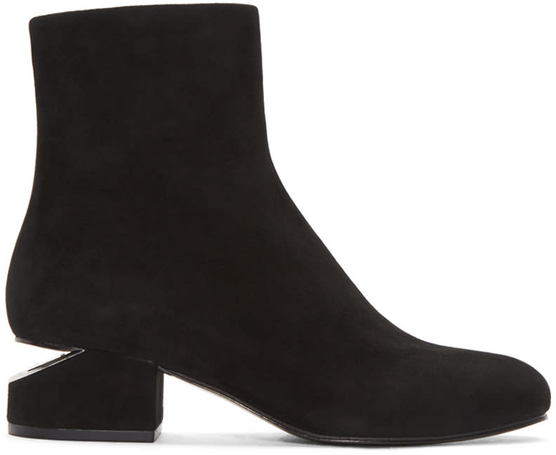 Alexander Wang Black Suede Kelly Boots