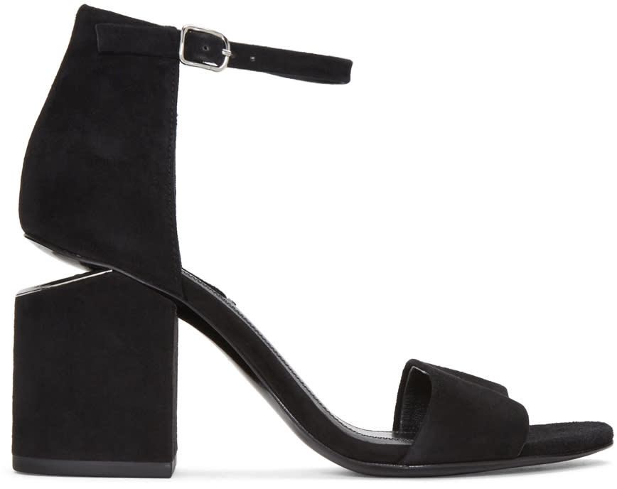 Alexander Wang Black Suede Abby Sandals