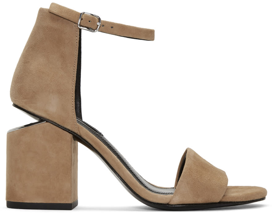 Alexander Wang Tan Suede Abby Sandals