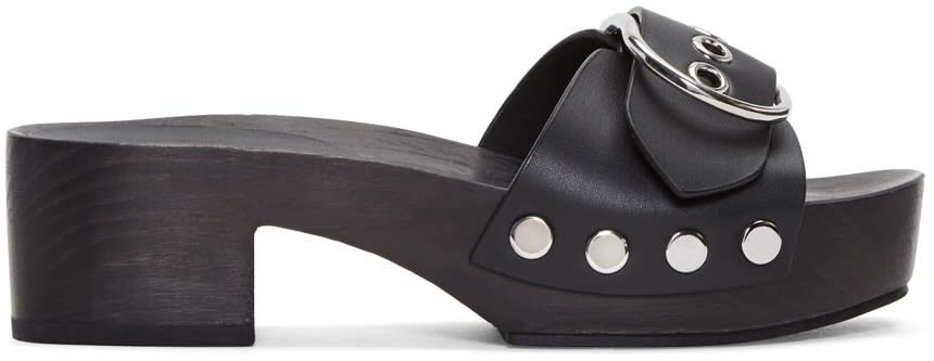 Alexander Wang Black Maya Clog Sandals