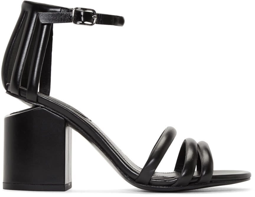 Alexander Wang Black Cage Abby Sandals