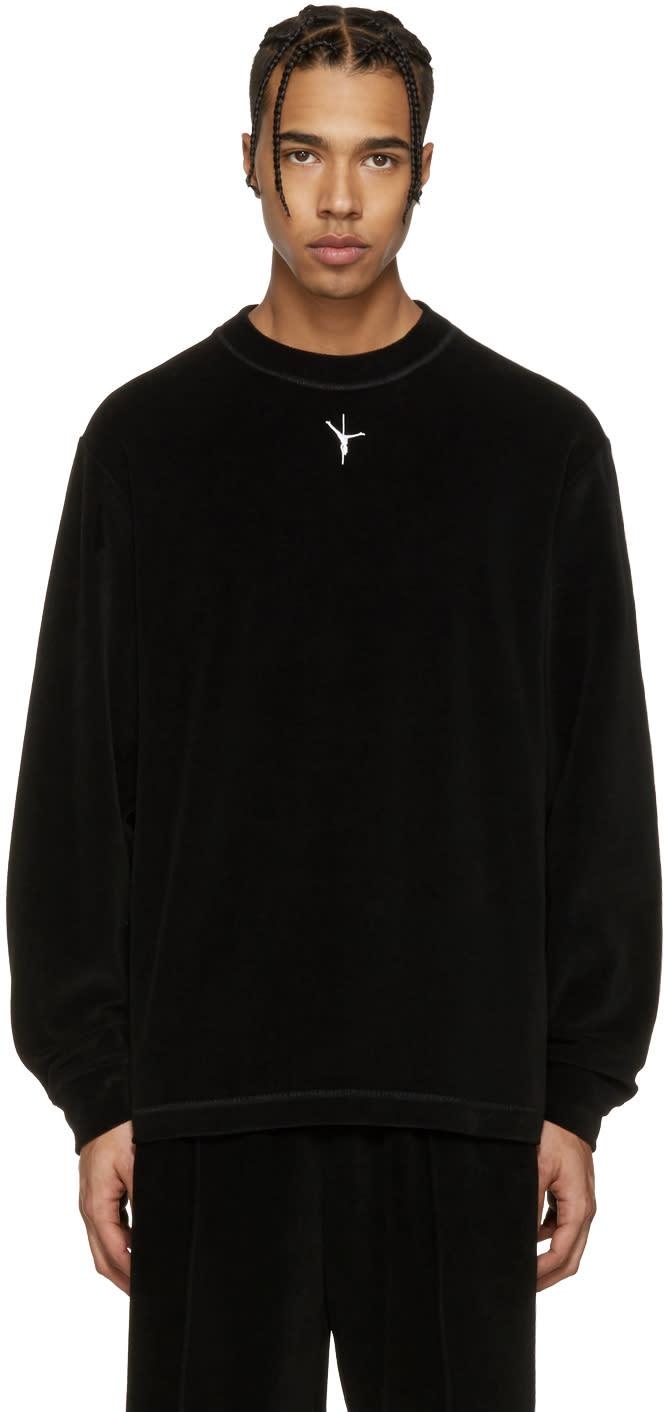 Alexander Wang Black Velour T-shirt