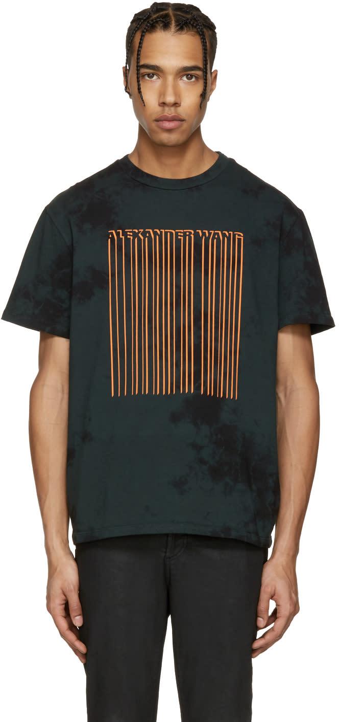 Alexander Wang Green Td Bar Code T-shirt