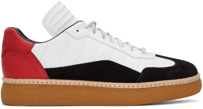 Alexander Wang Tricolor Leather and Suede Eden Sneakers