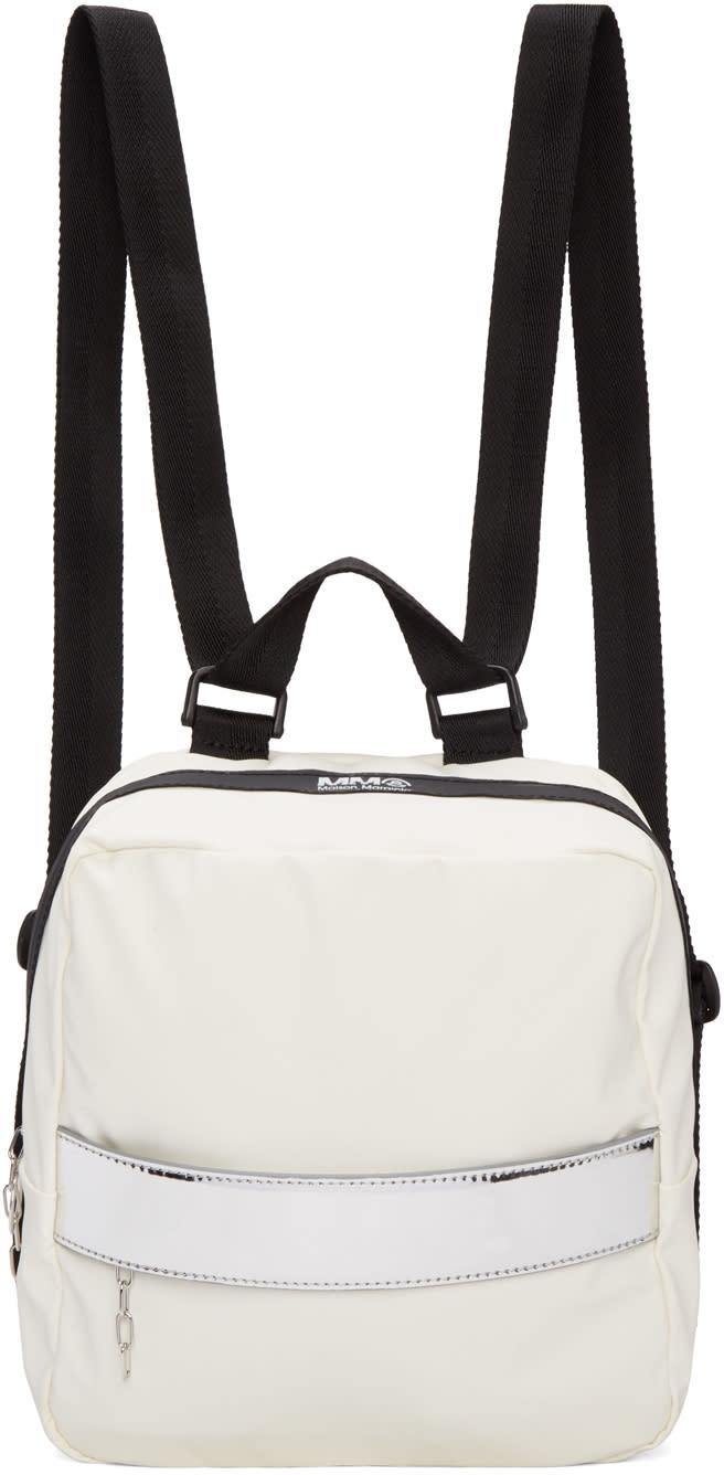 Mm6 Maison Margiela White Rubber Backpack