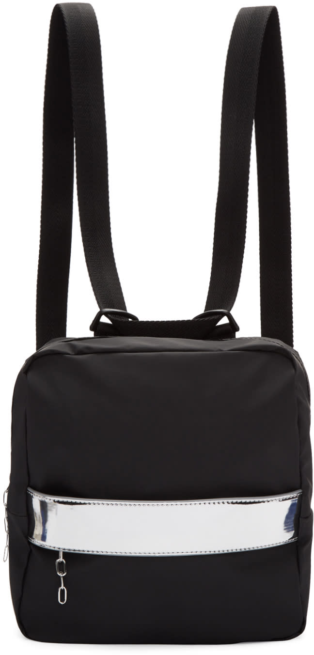 Mm6 Maison Margiela Black Rubber Backpack