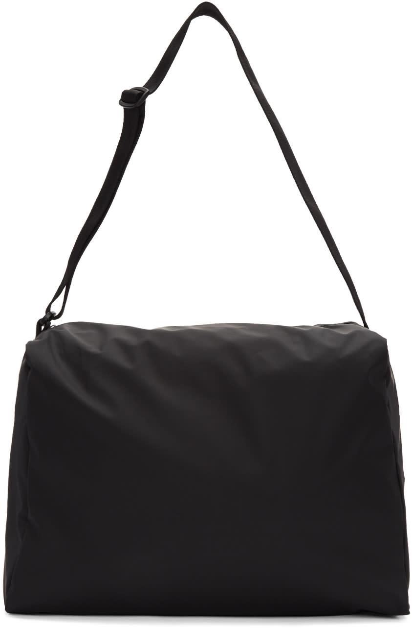 Mm6 Maison Margiela Black Rubber Duffle Bag