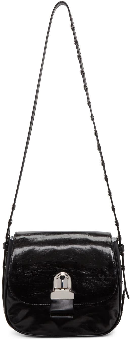 Mm6 Maison Margiela Black Leather Shoulder Bag