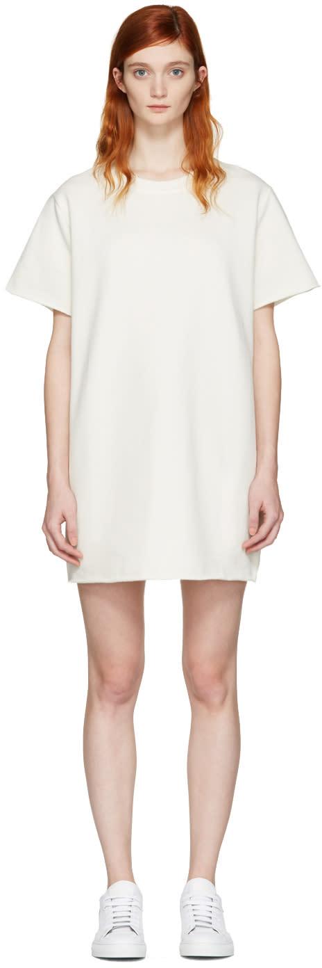 Mm6 Maison Margiela Cream Pullover Dress