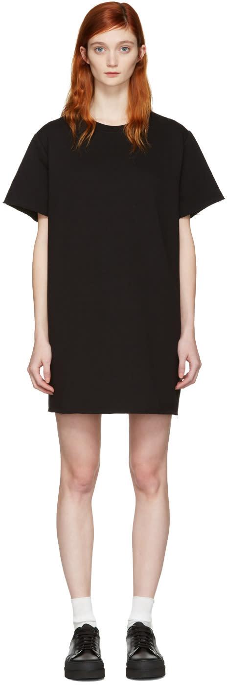 Mm6 Maison Margiela Black Pullover Dress
