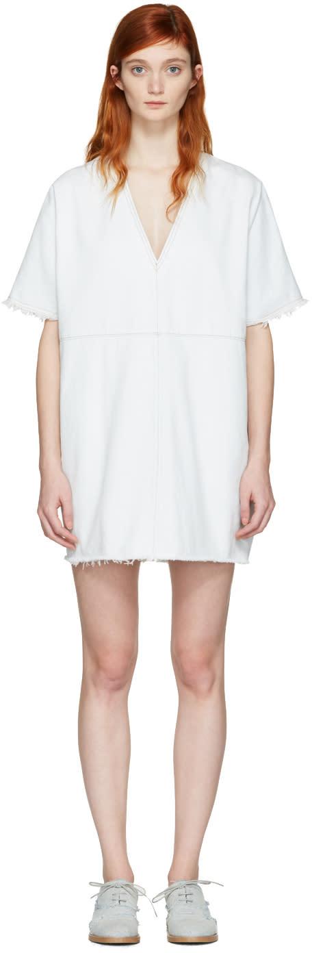 Mm6 Maison Margiela Blue Denim Short Dress
