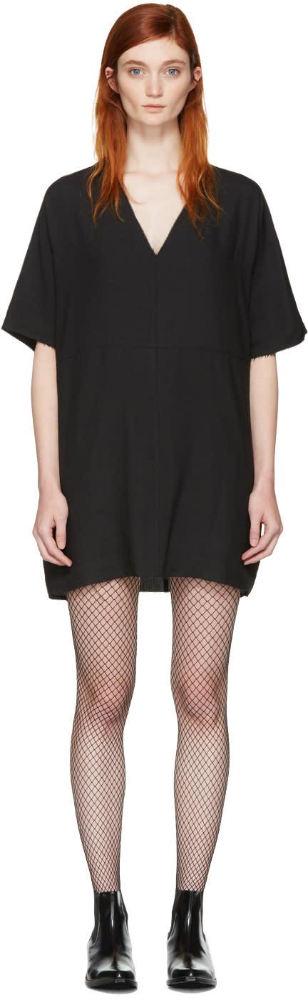 Mm6 Maison Margiela Black Oversized Tunic Dress