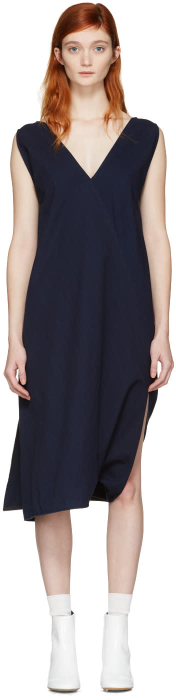 Mm6 Maison Margiela Indigo Two-way Dress