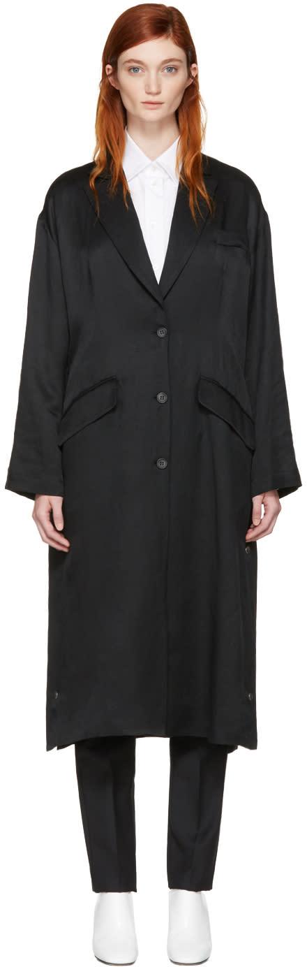 Mm6 Maison Margiela Black Regular Long Coat