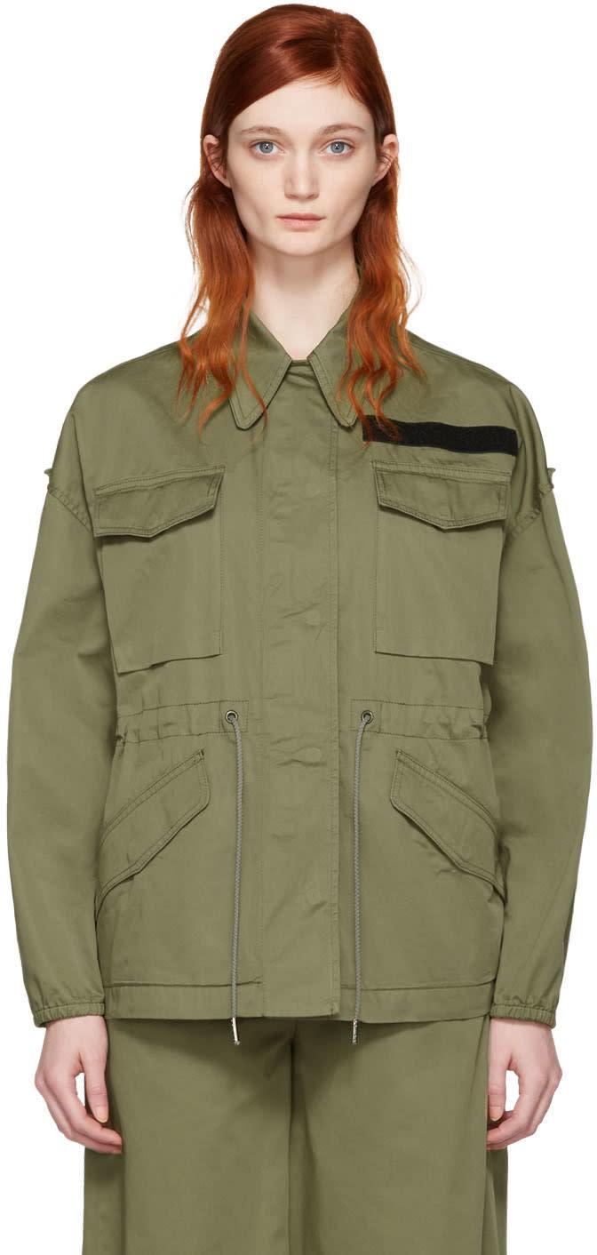 Mm6 Maison Margiela Khaki Short Jacket