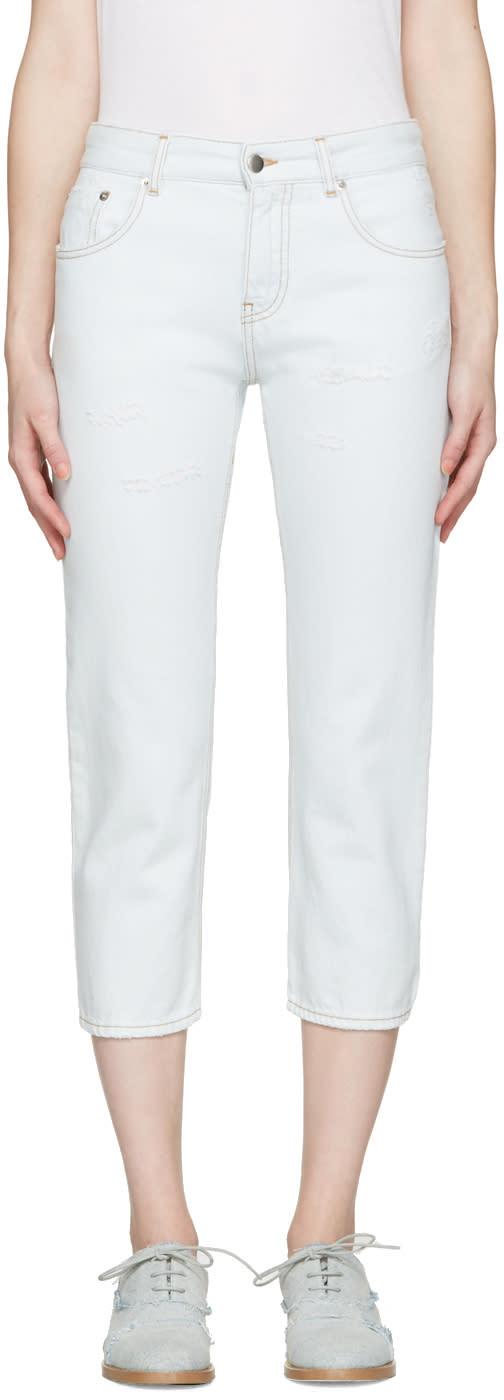 Mm6 Maison Margiela Blue Cropped Jeans
