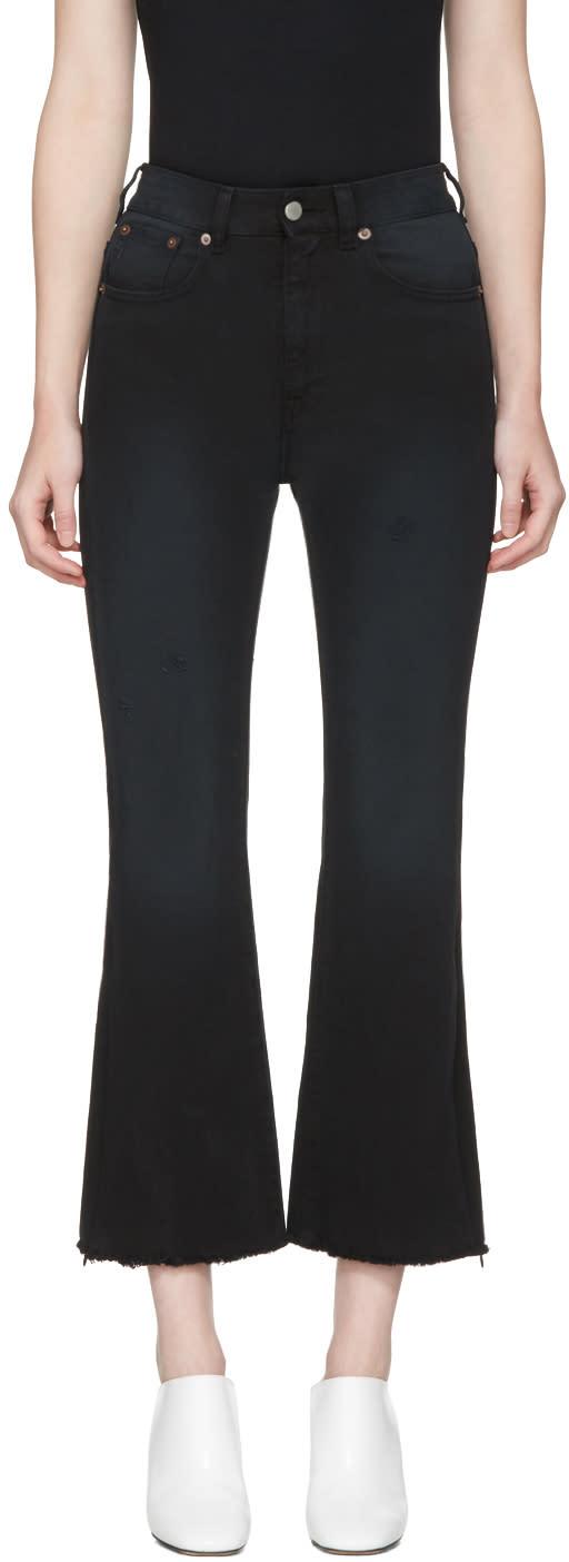 Mm6 Maison Margiela Black Cropped Jeans