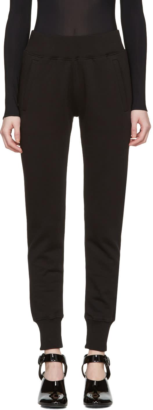 Mm6 Maison Margiela Black Basic Lounge Pants