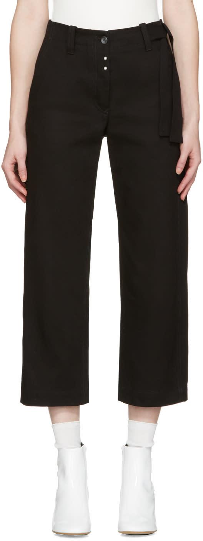 Mm6 Maison Margiela Black Workwear Drill Trousers