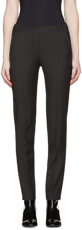 Mm6 Maison Margiela Black Tropical Wool Trousers