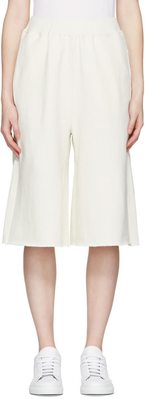 Mm6 Maison Margiela Cream Culotte Lounge Pants