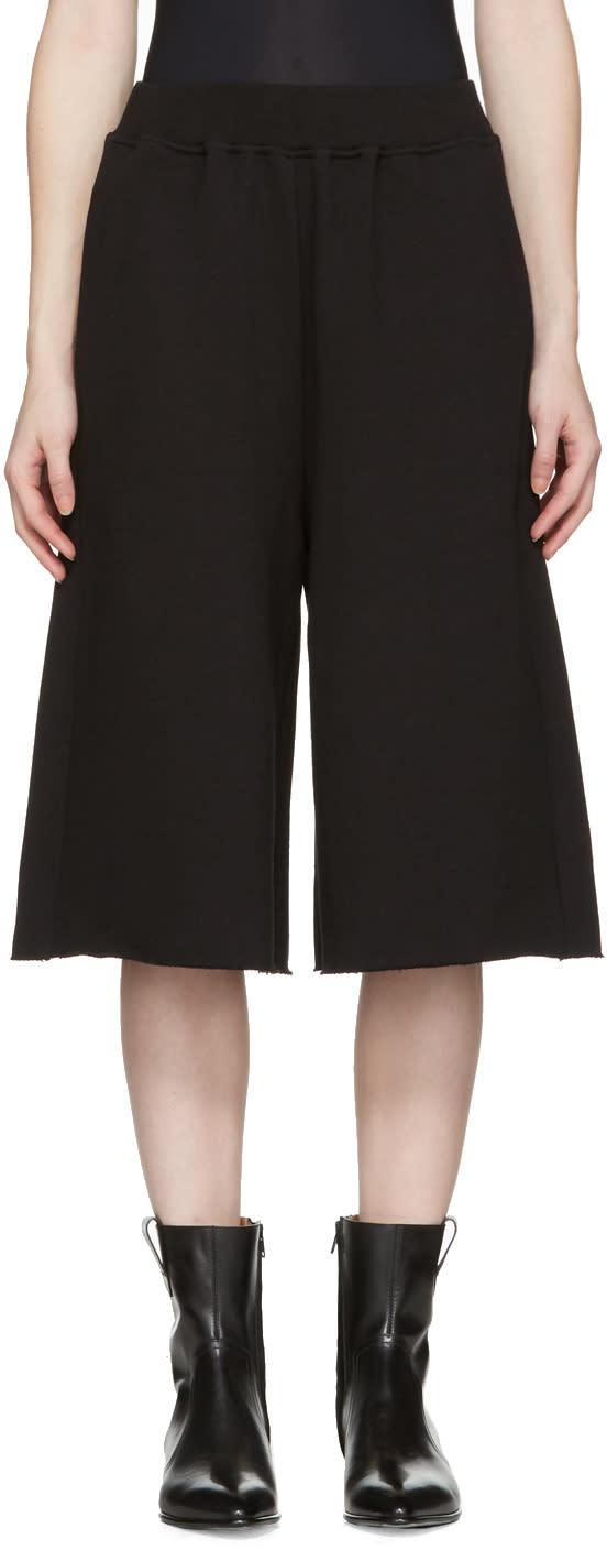 Mm6 Maison Margiela Black French Terry Culottes