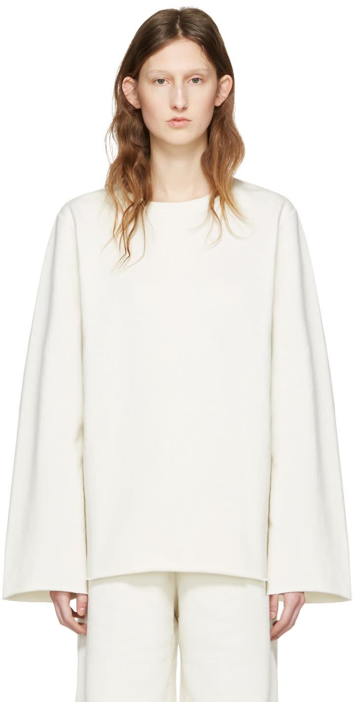 Mm6 Maison Margiela Off-white Basic Pullover