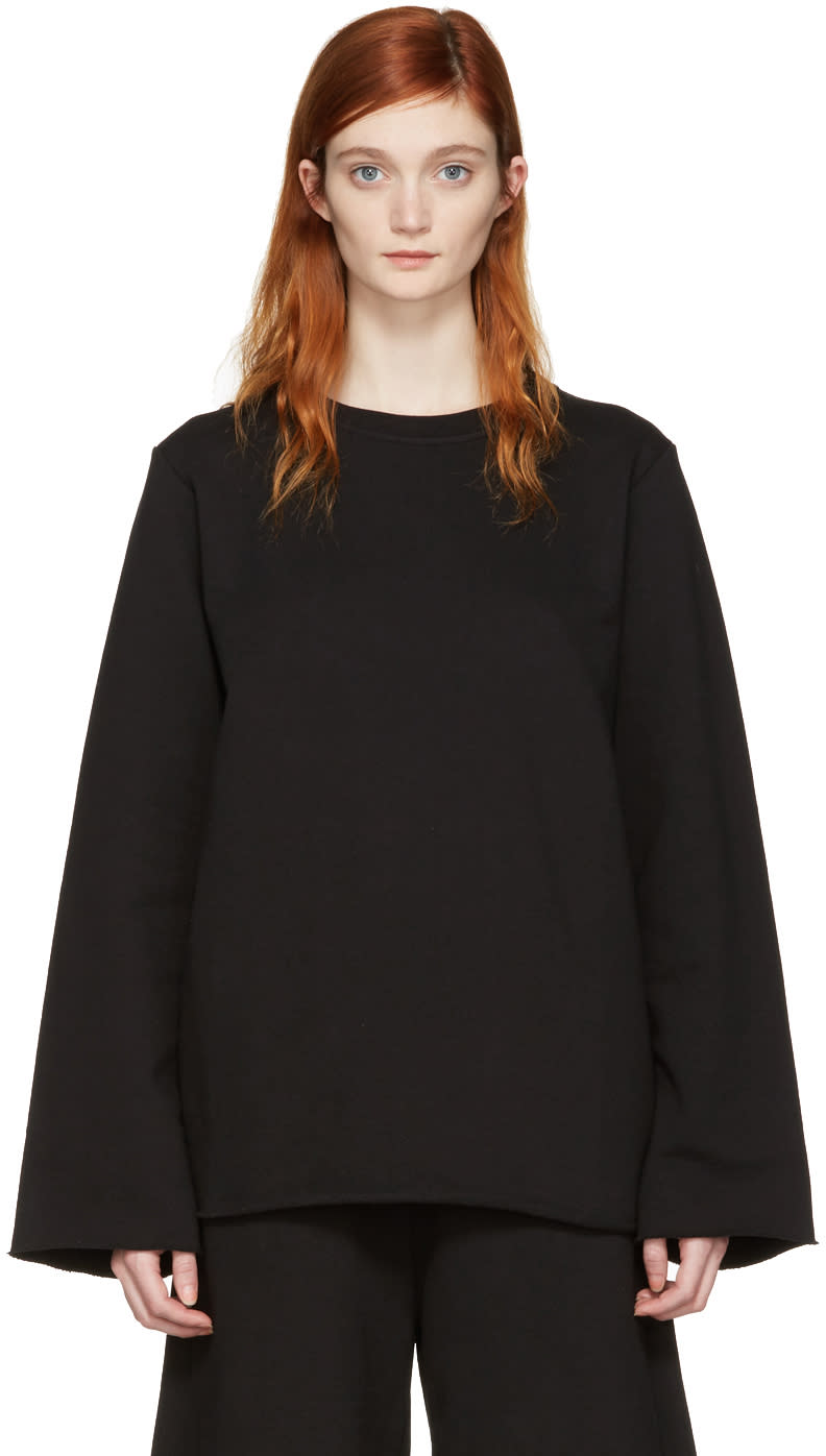 Image of Mm6 Maison Margiela Black Basic Pullover
